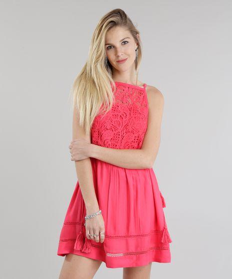 Vestido-com-Guipir-Rosa-Escuro-8695887-Rosa_Escuro_1