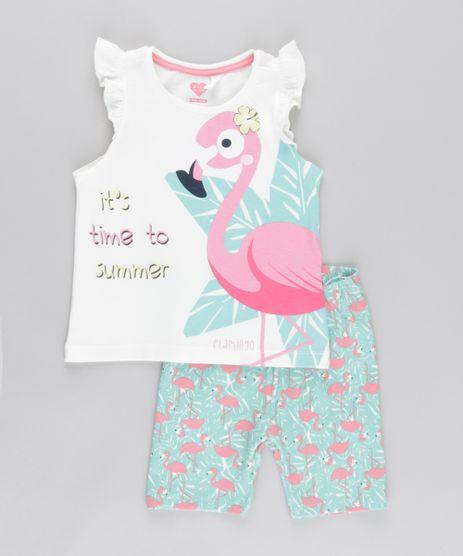 Conjunto-de-Regata-Off-White---Short-Estampado-de-Flamingo-Verde-Claro-8773477-Verde_Claro_1