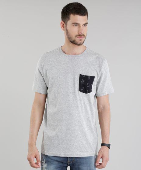 Camiseta-com-Bolso-Estampado-Cinza-Mescla-8775463-Cinza_Mescla_1