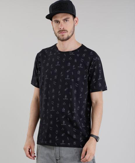 Camiseta-Estampada--Rock-n-Roll--Preta-8776839-Preto_1