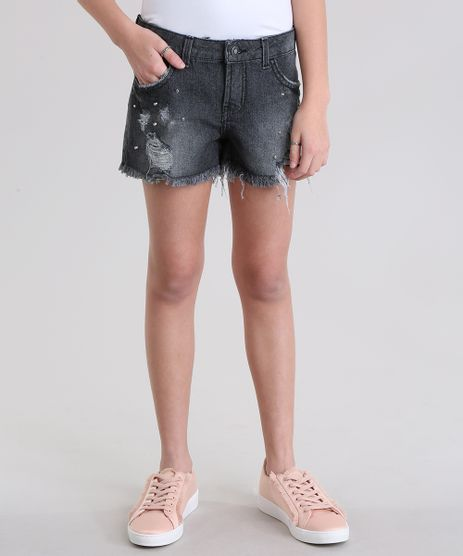 Short-Jeans-Destroyed-Preto-8729423-Preto_1