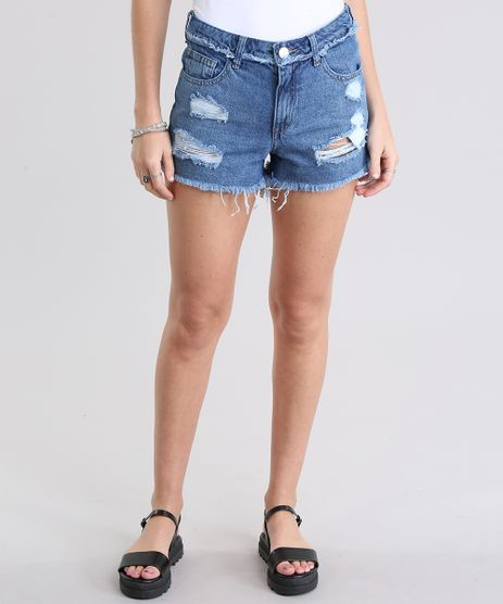 Short-Jeans-Hot-Pant-Destroyed-Azul-Medio-8796875-Azul_Medio_1