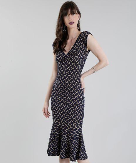 Vestido-Midi-GIG-Couture-em-Jacquard-de-Trico-Geometrico-Azul-Marinho-8656183-Azul_Marinho_1