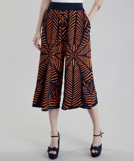 Calca-Pantacourt-GIG-Couture-em-Jacquard-de-Trico-Abstrato-Azul-Marinho-8656195-Azul_Marinho_1
