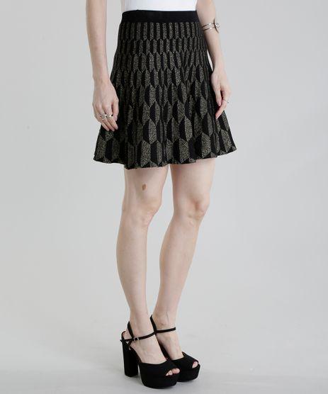 Saia-GIG-Couture-em-Jacquard-de-Trico-Geometrico-com-Lurex-Preta-8656219-Preto_1