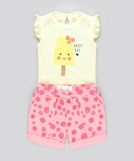 Conjunto-de-Body--Happy-Day--Amarelo---Short-Estampado-em-Moletom-em-Algodao---Sustentavel-Rosa-8682950-Rosa_1