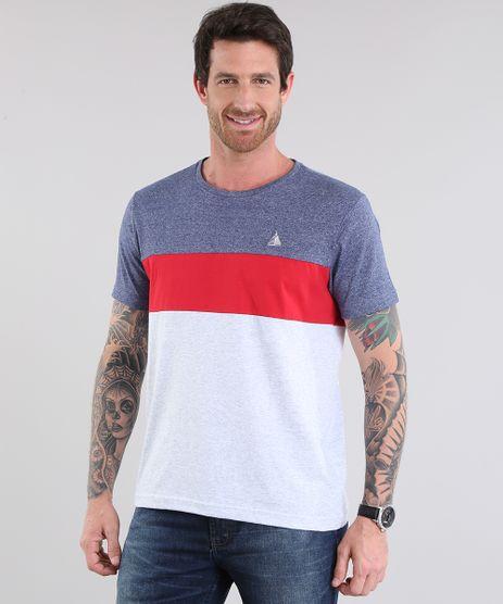 Camiseta-com-Recorte-Cinza-Mescla-Claro-8781731-Cinza_Mescla_Claro_1