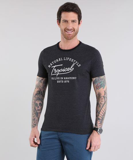 Camiseta-Listrada--Tropical--com-Bordado-Preta-8709932-Preto_1