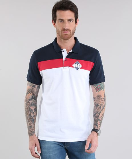 Polo-em-Piquet-com-Patch--Navy-Union--Branca-8781896-Branco_1