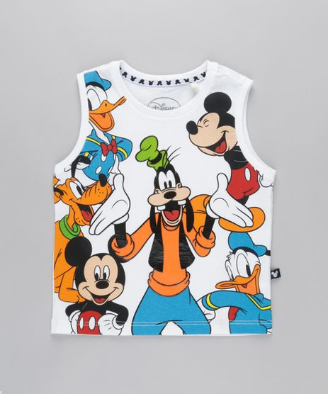Regata-Turma-do-Mickey-em-Algodao---Sustentavel-Branca-8788440-Branco_1