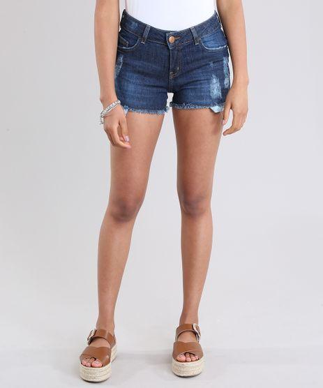 Short-Jeans-Reto-Destroyed-Azul-Escuro-8373431-Azul_Escuro_1