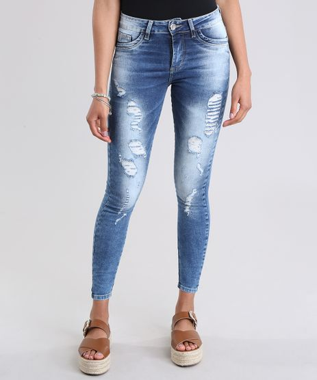 Calca-Jeans-Super-Skinny-Sawary-Destroyed-Azul-Medio-8865793-Azul_Medio_1