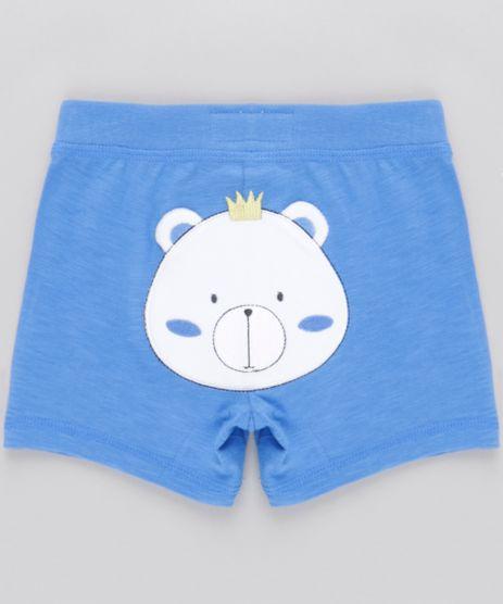 Bermuda-com-Bordado--Urso--em-Algodao---Sustentavel-Azul-8600863-Azul_1