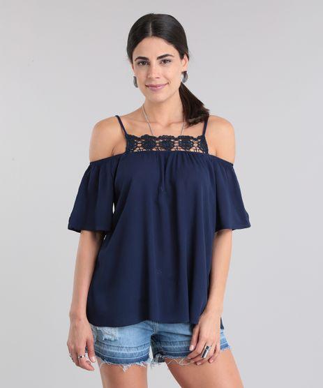 Blusa-Open-Shoulder-com-Renda-Azul-Marinho-8831219-Azul_Marinho_1
