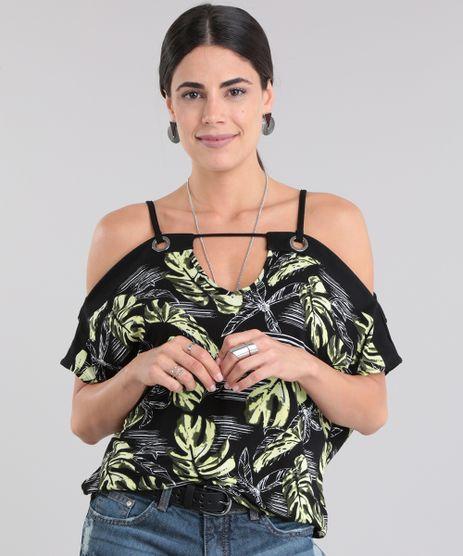 Blusa-Open-Shoulder-Estampada-de-Folhas-Preta-8741875-Preto_1