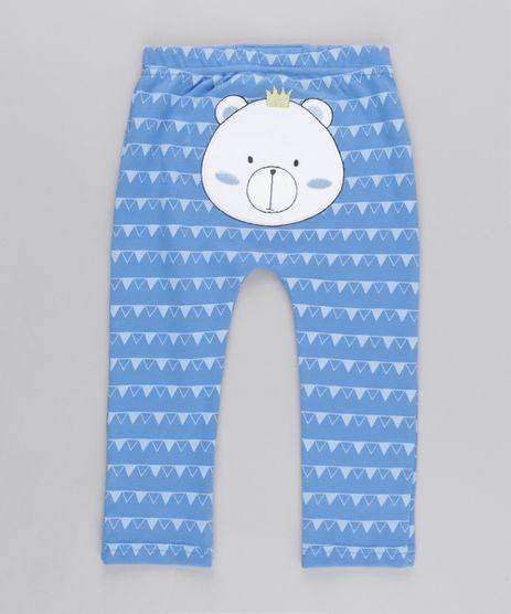 Calca-Estampada-Urso-em-Algodao---Sustentavel-Azul-8612406-Azul_1