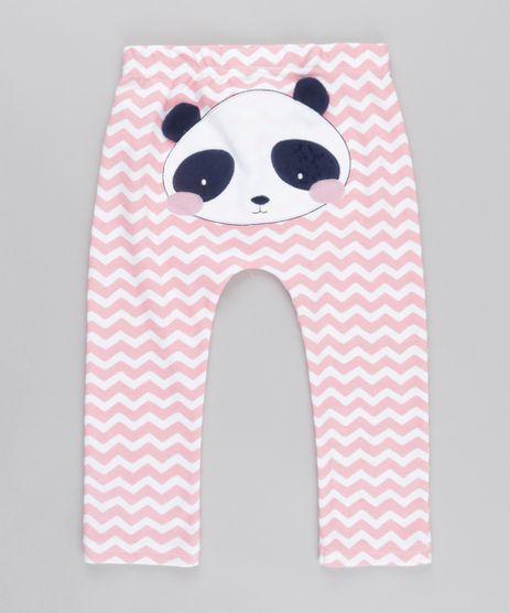 Calca-Estampada-Panda-em-Algodao---Sustentavel-Rosa-8612462-Rosa_1