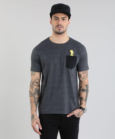 Camiseta-Bart-com-Bolsos-Cinza-Mescla-Escuro-8816187-Cinza_Mescla_Escuro_1