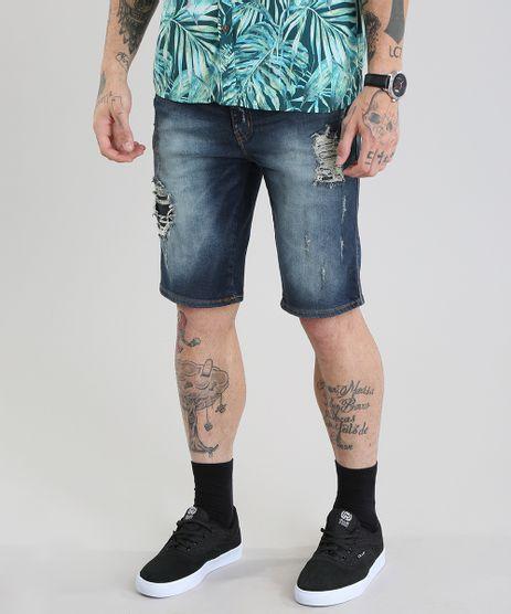 Bermuda-Jeans-Reta-Destroyed-Azul-Escuro-8766941-Azul_Escuro_1