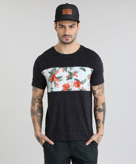 Camiseta-com-Recorte-Estampado-Floral-Preta-8838938-Preto_1