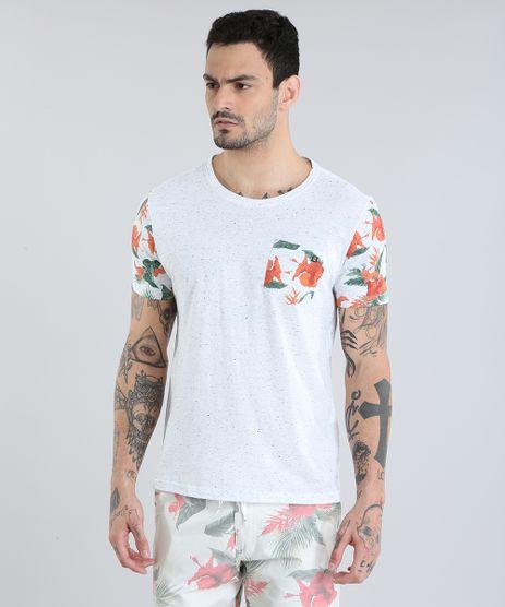 Camiseta-com-Bolso-Estampado-Floral-Cinza-Mescla-Claro-8839031-Cinza_Mescla_Claro_1