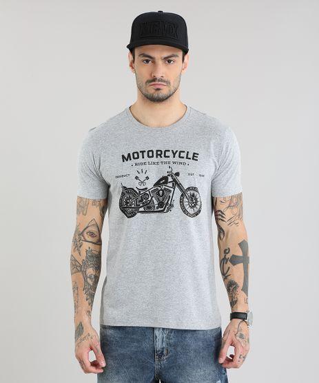 Camiseta--Motorcycle--Cinza-Mescla-Claro-8764454-Cinza_Mescla_Claro_1