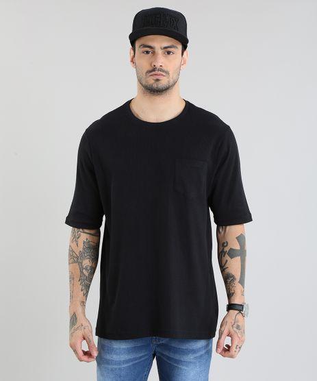 Camiseta-Longa-Canelada-com-Bolso-Preta-8920851-Preto_1