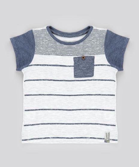 Camiseta-com-Estampa-Listrada-e-Bolso-Cinza-Mescla-Claro-8812802-Cinza_Mescla_Claro_1