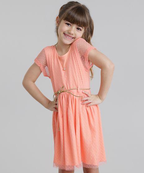 Vestido-em-Tule-com-Cinto-Metalizado-Coral-8790594-Coral_1