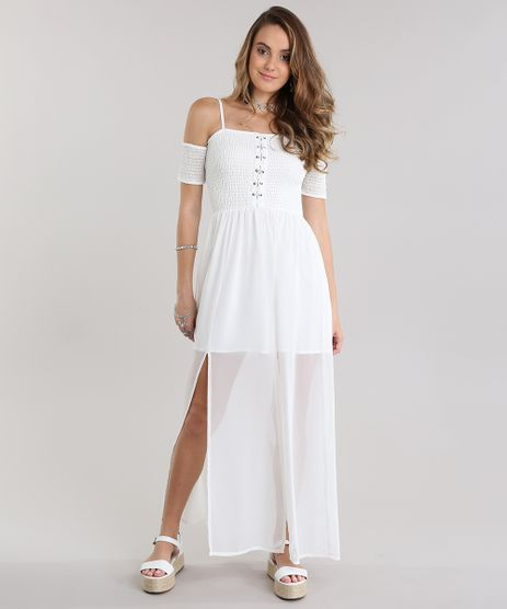 Vestido-Longo-Open-Shoulder-com-Lace-Up-Off-White-8723745-Off_White_1