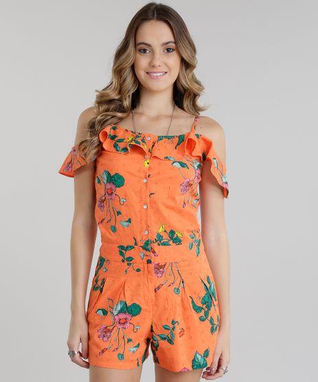 Macaquinho-Open-Shoulder-Estampado-Floral-em-Laise-Laranja-8695740-Laranja_1