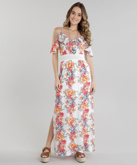 Vestido-Longo-Open-Shoulder-Estampado-Floral-com-Fendas-Off-White-8722829-Off_White_1