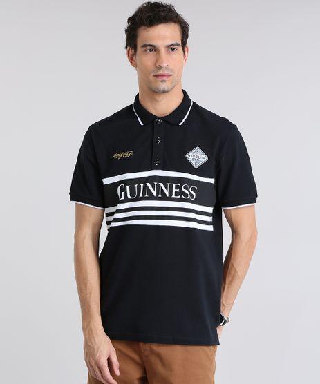 Polo-Guinness-em-Piquet-com-Patch-Preta-8781843-Preto_1
