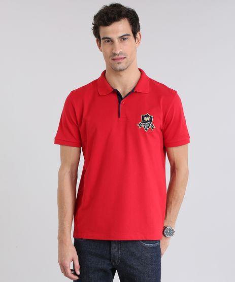 Polo-em-Piquet-com-Patch-Vermelha-8726617-Vermelho_1
