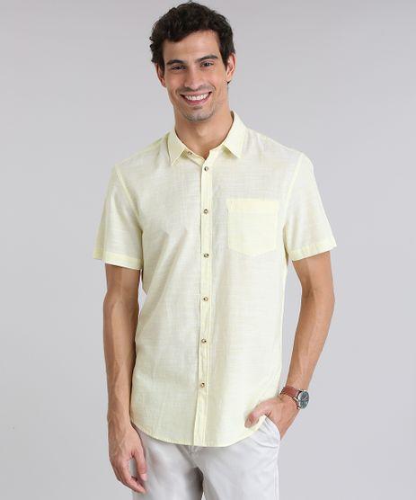 Camisa-Comfort-com-Bolso-Amarelo-Claro-8635554-Amarelo_Claro_1