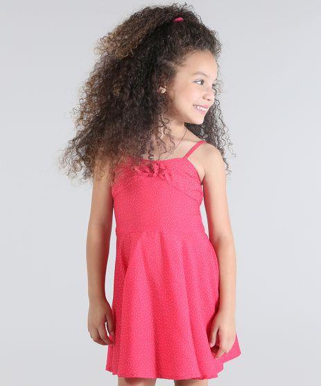 Vestido-Estampado-de-Poas-Rosa-Escuro-8682897-Rosa_Escuro_1