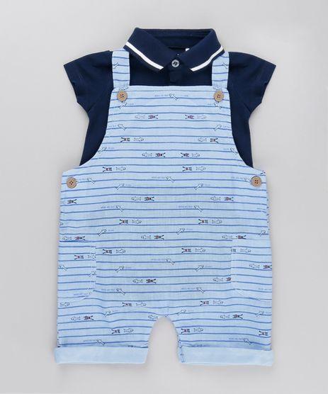 Conjunto-de-Body-Polo---Jardineira-Listrada-em-Algodao---Sustentavel-Azul-8695478-Azul_1