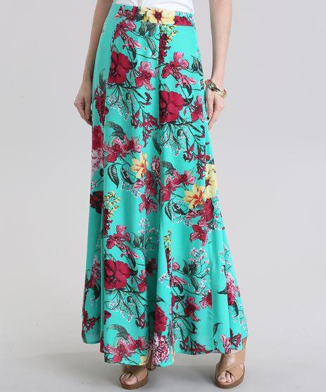 Saia-Longa-Estampada-Floral-Verde-Claro-8832678-Verde_Claro_1