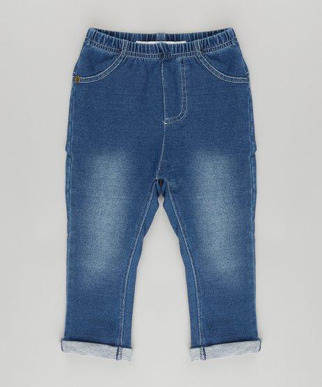 Calca-Jegging-em-Jeans-de-Moletom-com-Algodao---Sustentavel-Azul-Medio-8700840-Azul_Medio_1