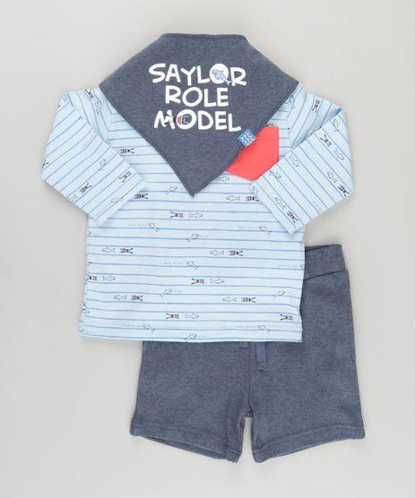 Conjunto-de-Camiseta-Listrada-em-Algodao---Sustentavel-Azul-Claro---Bermuda---Babador-Azul-Marinho-8696822-Azul_Marinho_1