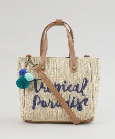 Bolsa-Shopper--Tropical-Paradise--Bege-Escuro-8370236-Bege_Escuro_1