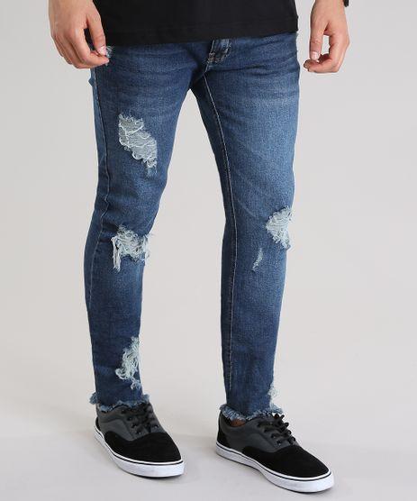 Calca-Jeans-Skinny-Cropped-Destroyed-Azul-Medio-8761877-Azul_Medio_1