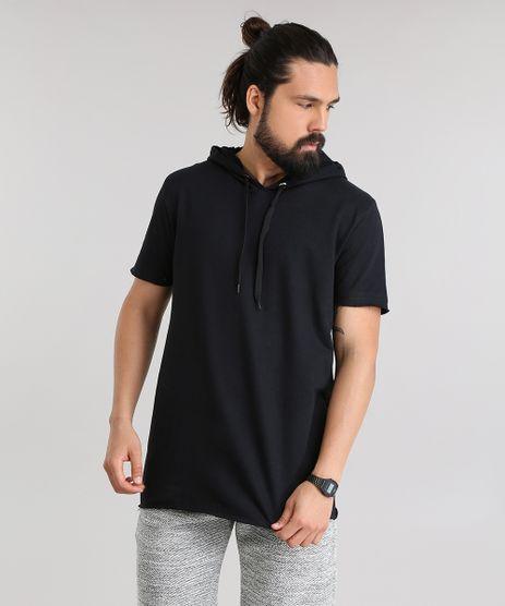 Camiseta-Longa-em-Moletom-com-Capuz-Preta-8332686-Preto_1
