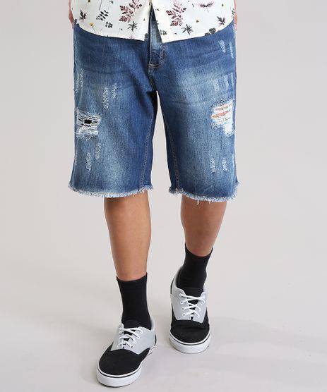 Bermuda-Jeans-Reta-Destroyed-Azul-Medio-8775009-Azul_Medio_1