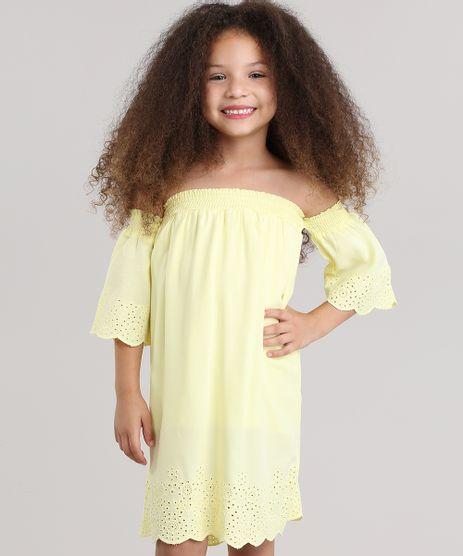 Vestido-Ombro-a-Ombro-com-Laise-Amarelo-8678537-Amarelo_1