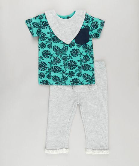 Conjunto-de-Camiseta-Verde-Agua---Calca---Babador-em-Moletom-de-Algodao---Sustentavel-Cinza-Mescla-8702058-Cinza_Mescla_1