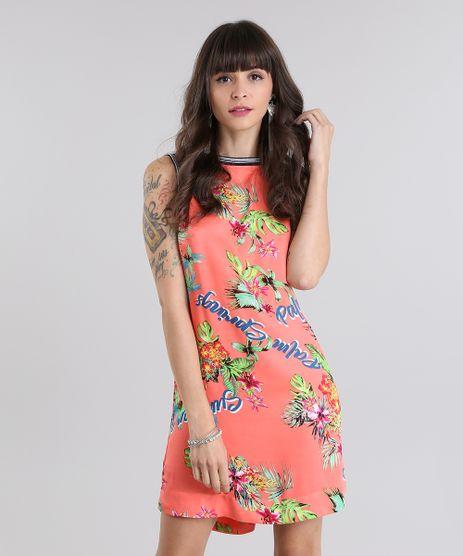 Vestido-Estampado-Floral-Coral-8723384-Coral_1