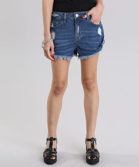 Short-Jeans-Relaxed-Destroyed-Azul-Medio-8797532-Azul_Medio_1