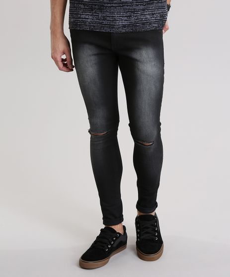 Calca-Jeans-Super-Skinny-Destroyed-Preta-8892324-Preto_1