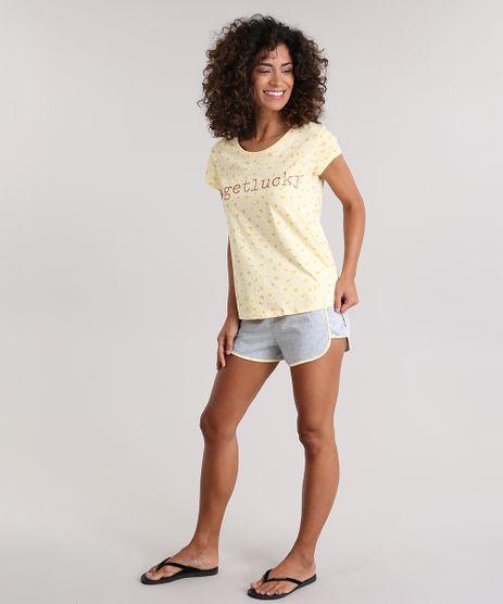 Pijama--Get-Luck--Estampado-de-Estrelas-Amarelo-Claro-8830861-Amarelo_Claro_1